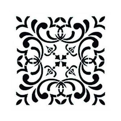 Plantilla de stencil estarcido con baldosa hidráulica de Cadence Home Decor TCS011 - Taller decoración de muebles antiguos Madrid estilo Shabby Chic, Provenzal, Romántico, Nórdico