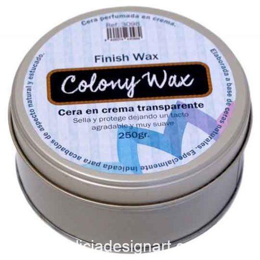 Cera transparente en crema Colony Wax - Tienda y taller de decoración en Madrid pintura, papel para decoupage, stencil estarcidos