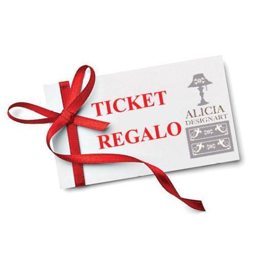 Regala productos de decoración con el ticket regalo - Alicia Designart, tienda y taller de decoración de muebles antiguos en Madrid