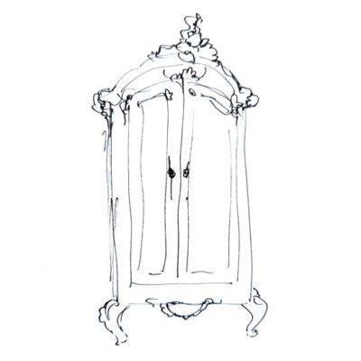 Armario decorado por encargo exclusivamente para ti - Taller decoración de muebles antiguos Madrid estilo Shabby Chic, Provenzal, Romántico, Nórdico