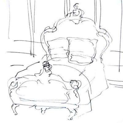 Cabecero de cama decorado por encargo exclusivamente para ti - Taller decoración de muebles antiguos Madrid estilo Shabby Chic, Provenzal, Romántico, Nórdico