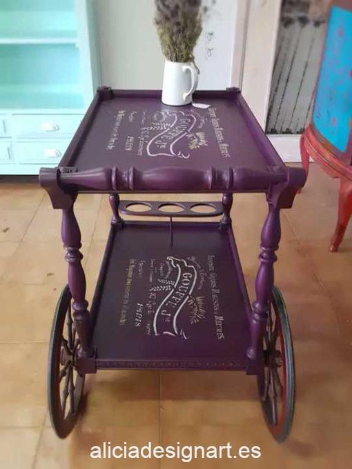 Carrito bar camarera Vintage decorado estilo Shabby Chic - Taller de decoración de muebles antiguos Madrid estilo Shabby Chic, Provenzal, Romántico, Nórdico