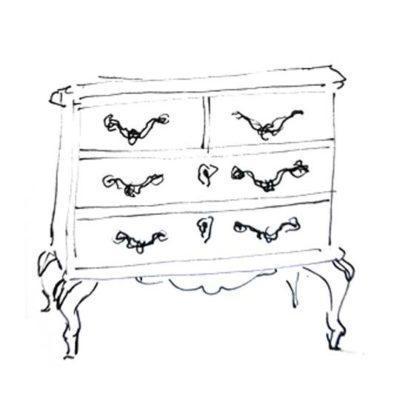 Cómoda decorada por encargo exclusivamente para ti - Taller decoración de muebles antiguos Madrid estilo Shabby Chic, Provenzal, Romántico, Nórdico