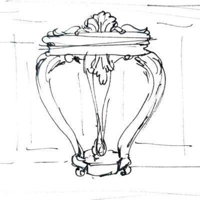 Consola decorada por encargo exclusivamente para ti - Taller decoración de muebles antiguos Madrid estilo Shabby Chic, Provenzal, Romántico, Nórdico