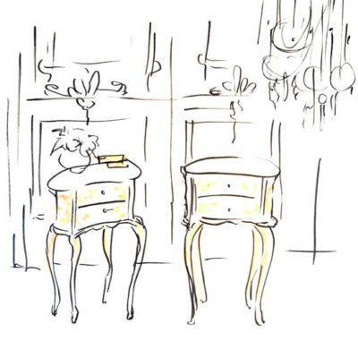 Mesitas de noche decoradas por encargo exclusivamente para ti - Taller decoración de muebles antiguos Madrid estilo Shabby Chic, Provenzal, Romántico, Nórdico