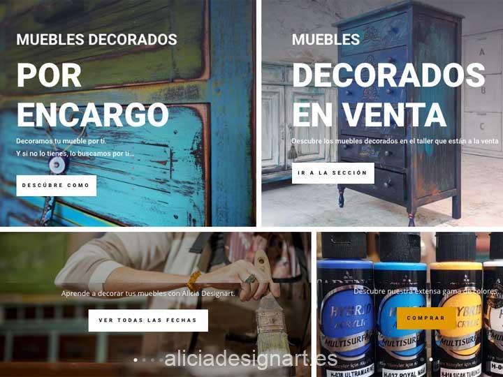Nueva página web Alicia Designart 2020 - Alicia Designart, tienda y taller de decoración de muebles antiguos en Madrid