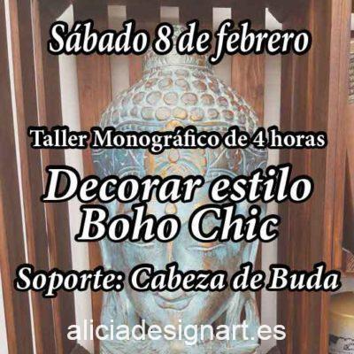 Curso taller de decoración de muebles y Home Decor estilo Boho Chic 8 de febrero 2020 - Taller de decoración de muebles antiguos Alicia Designart Madrid