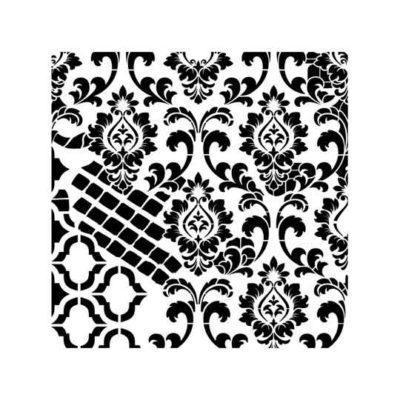 Plantilla de stencil steampunk estarcido Grunge Midi de Cadence GCS004 - Taller decoración de muebles antiguos Madrid estilo Shabby Chic, Provenzal, Romántico, Nórdico