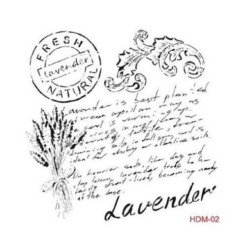 Plantilla de stencil estarcido Lavender hdm02 - Taller decoración de muebles antiguos Madrid estilo Shabby Chic, Provenzal, Romántico, Nórdico