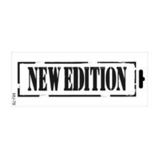 Plantilla de stencil estarcido Mix Media con cartel New Edition distress de Cadence MU078 - Taller decoración de muebles antiguos Madrid estilo Shabby Chic, Provenzal, Romántico, Nórdico