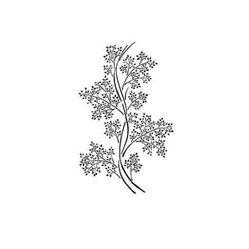 Plantilla de stencil estarcido con motivos vegetales y ramillete de flores de Cadence BN175 - Taller decoración de muebles antiguos Madrid estilo Shabby Chic, Provenzal, Romántico, Nórdico