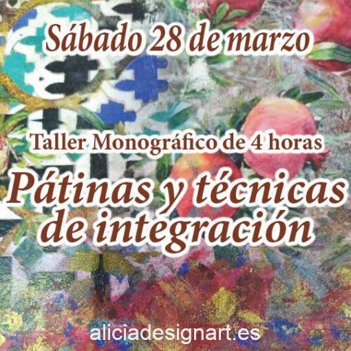 Curso taller de decoración de muebles y Home Decor técnicas de pátinas e integración 28 de marzo 2020 - Taller de decoración de muebles antiguos Alicia Designart Madrid