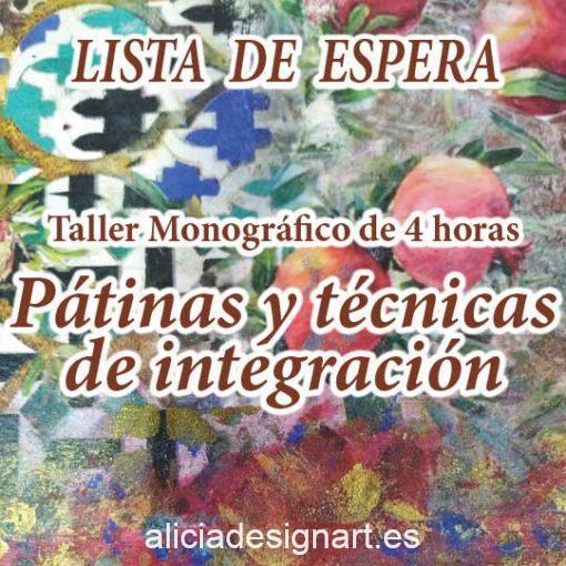 Curso taller de decoración de muebles y Home Decor técnicas de pátinas e integración LISTA DE ESPERA - Taller de decoración de muebles antiguos Alicia Designart Madrid