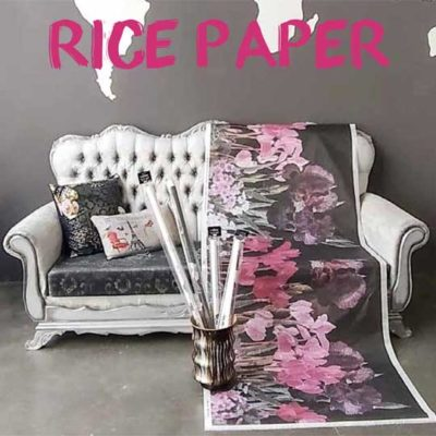 Papel de arroz gran formato para découpage