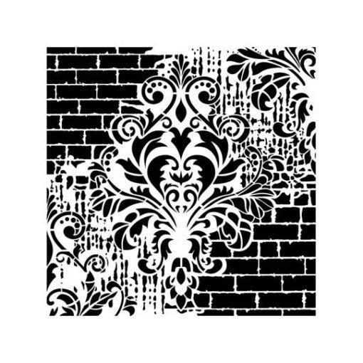 Plantilla de stencil steampunk estarcido Grunge Midi de Cadence GCSS002 - Taller decoración de muebles antiguos Madrid estilo Shabby Chic, Provenzal, Romántico, Nórdico