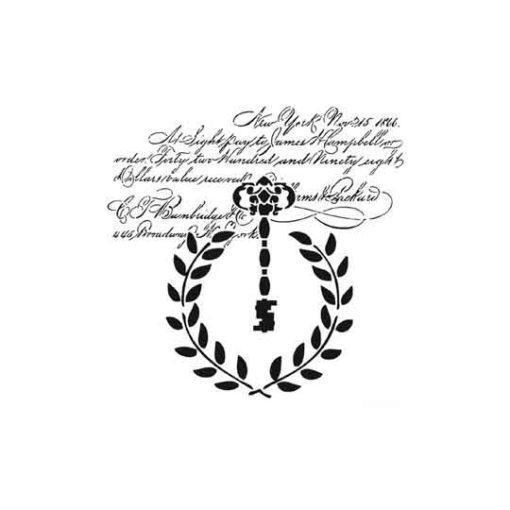 Plantilla de stencil estarcido Texto con llave hdm03 - Taller decoración de muebles antiguos Madrid estilo Shabby Chic, Provenzal, Romántico, Nórdico