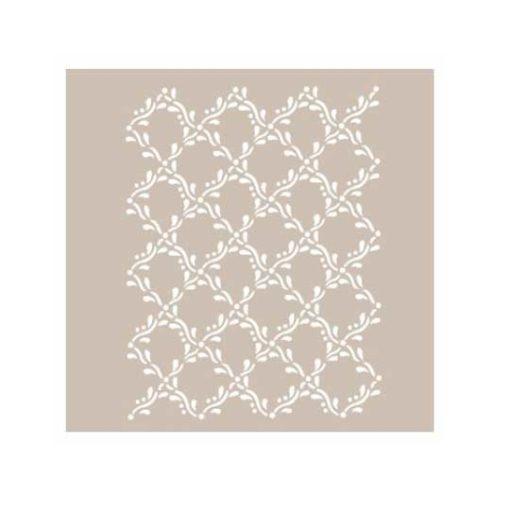 Plantilla de stencil estarcido con textura floral AS412 - Taller decoración de muebles antiguos Madrid estilo Shabby Chic, Provenzal, Romántico, Nórdico
