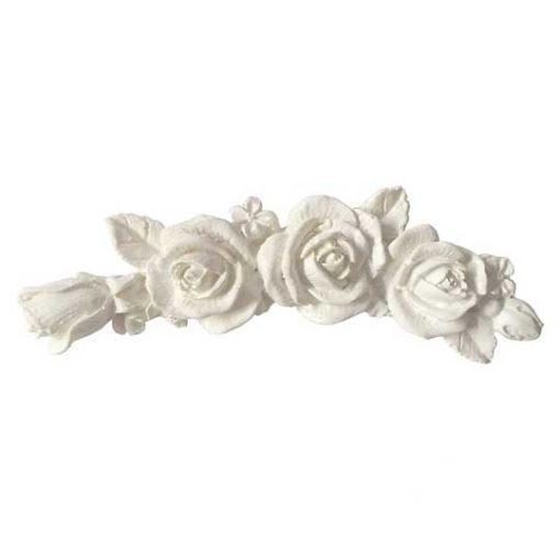 Aplique decorativo con forma de rozas mini en resina de poliuretano para decorar, ref 1881 - Taller decoración de muebles antiguos Madrid estilo Shabby Chic, Provenzal, Romántico, Nórdico