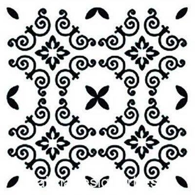Plantilla de stencil estarcido con baldosa hidráulica de Cadence Home Decor TCS012 - Taller decoración de muebles antiguos Madrid estilo Shabby Chic, Provenzal, Romántico, Nórdico