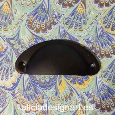 Tirador concha negra retro industrial - Decoración de muebles antiguos estilo Shabby Chic, Provenzal, Romántico, Nórdico