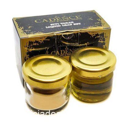 Kit de pan de Oro líquido de Cadence 882565 - Taller decoración de muebles antiguos Madrid estilo Shabby Chic, Provenzal, Romántico, Nórdico