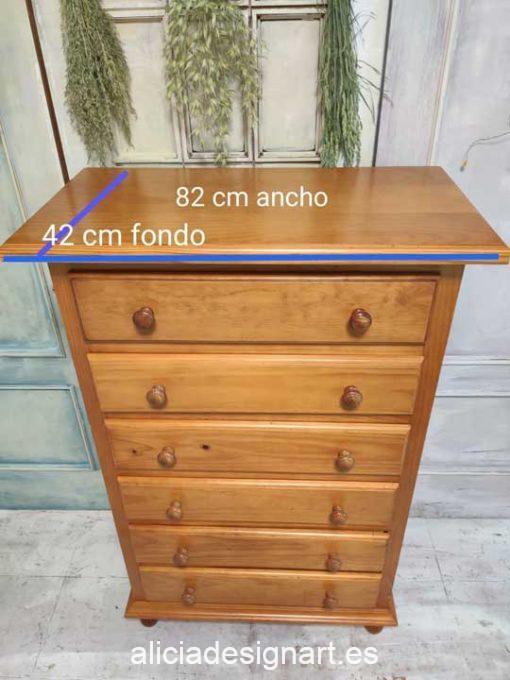 Sinfonier antiguo decorado a medida por encargo - Taller decoración de muebles antiguos Madrid estilo Shabby Chic, Provenzal, Romántico, Nórdico