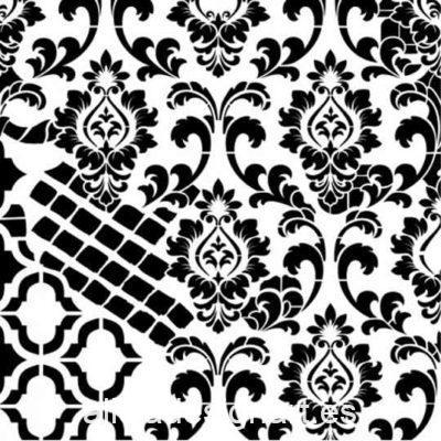 Plantilla de stencil steampunk estarcido Grunge Midi de Cadence GCSS004 - Taller decoración de muebles antiguos Madrid estilo Shabby Chic, Provenzal, Romántico, Nórdico