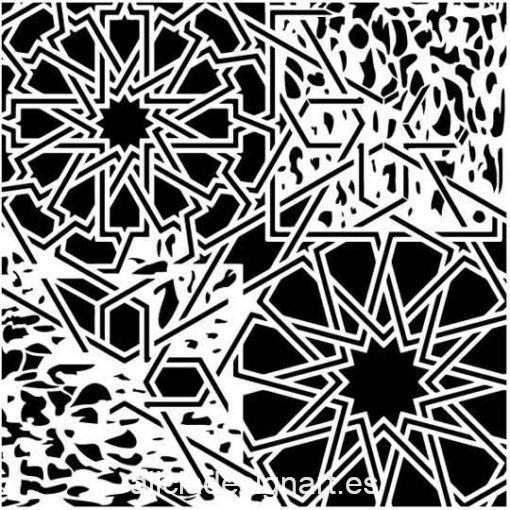 Plantilla de stencil steampunk estarcido Grunge Midi de Cadence GCSS010 - Taller decoración de muebles antiguos Madrid estilo Shabby Chic, Provenzal, Romántico, Nórdico