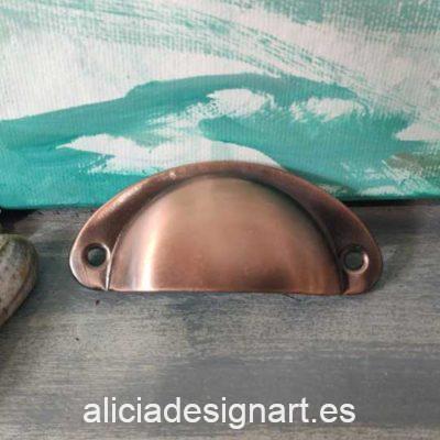 Tirador concha color cobre antiguo retro industrial - Decoración de muebles antiguos estilo Shabby Chic, Provenzal, Romántico, Nórdico