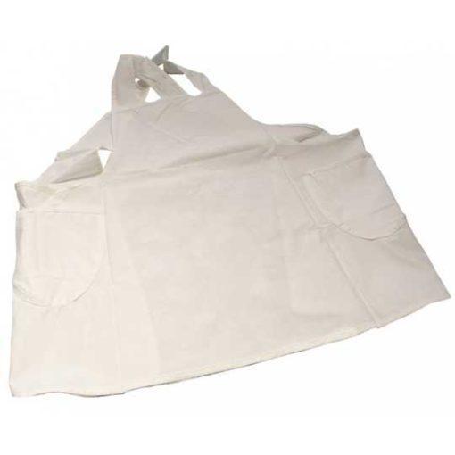 Delantal blanco con tirantes cruzados de Cadence 31310 - Decoración de muebles antiguos estilo Shabby Chic, Provenzal, Romántico, Nórdico