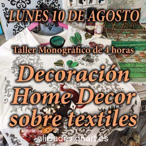 Curso taller de decoración Home Decor sobre tela y textiles 200810 - Taller decoración de muebles antiguos Madrid estilo Shabby Chic, Provenzal, Romántico, Nórdico
