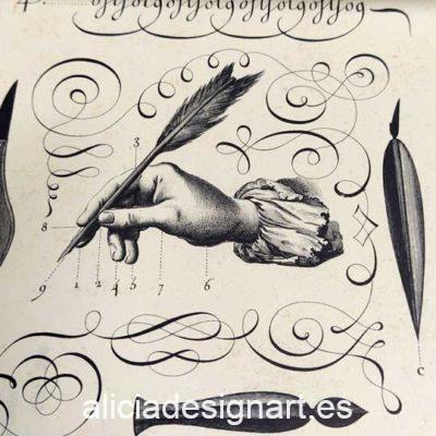 Papel florentino decorativo Calligraphy de Rossi ref: CRT536 - Taller decoración de muebles antiguos Madrid estilo Shabby Chic, Provenzal, Romántico, Nórdico