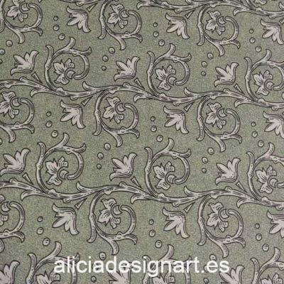 Papel florentino decorativo Traditional Florentine 71 de Rossi ref: TSC071 - Taller decoración de muebles antiguos Madrid estilo Shabby Chic, Provenzal, Romántico, Nórdico