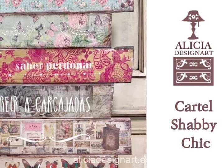 Video para aprender DIY a decorar con découpage con servilletas - Decoración de muebles antiguos estilo Shabby Chic, Provenzal, Romántico, Nórdico