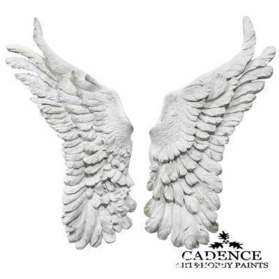 Pack de dos alas grandes de ángel en resina de Cadence para decorar - Taller decoración de muebles antiguos Madrid estilo Shabby Chic, Provenzal, Rómantico, Nórdico