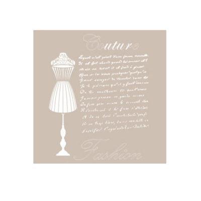 Plantilla de stencil estarcido Couture Fashion AS455 - Taller decoración de muebles antiguos Madrid estilo Shabby Chic, Provenzal, Romántico, Nórdico