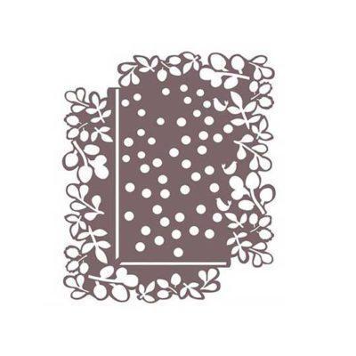 Plantilla de stencil estarcido puntos y ramas de Cadence Shadow KS157 - Taller decoración de muebles antiguos Madrid estilo Shabby Chic, Provenzal, Romántico, Nórdico