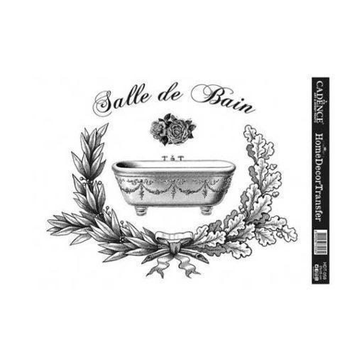 Papel para transfer Salle de Bain de Cadence Home Decor ref HDT058 - Taller decoración de muebles antiguos Madrid estilo Shabby Chic, Provenzal, Romántico, Nórdico