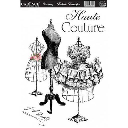 Papel para transfer sobre tejido Haute Couture de Cadence ref FT001 - Taller decoración de muebles antiguos Madrid estilo Shabby Chic, Provenzal, Romántico, Nórdico