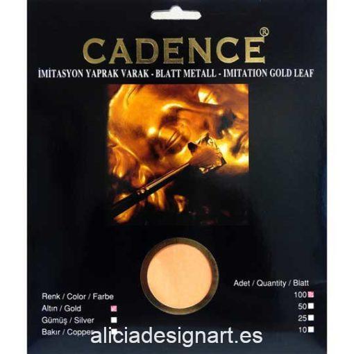 Blister 100 hojas de pan de Oro 16 x 16cm de Cadence 889001 - Taller decoración de muebles antiguos Madrid estilo Shabby Chic, Provenzal, Romántico, Nórdico