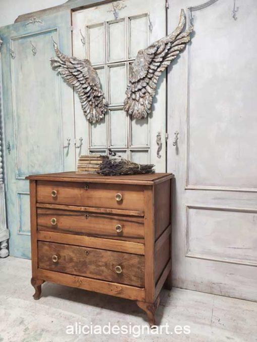 Pack de dos alas de ángel grandes decoradas estilo romántico para decorar tus espacios - Taller decoración de muebles antiguos Madrid estilo Shabby Chic, Provenzal, Romántico, Nórdico