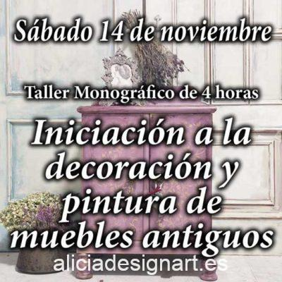 Curso taller de iniciación a la decoración y pintura de muebles y Home Decor 14 de noviembre 2020 - Taller de decoración de muebles antiguos Alicia Designart Madrid