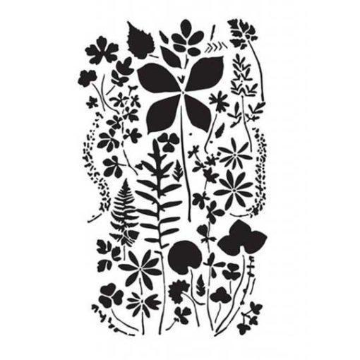 Plantilla de stencil estarcido con motivos vegetales y flores de Cadence BN161 - Taller decoración de muebles antiguos Madrid estilo Shabby Chic, Provenzal, Romántico, Nórdico