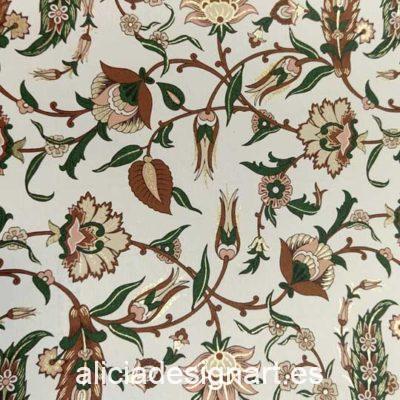 Papel florentino decorativo para découpage y scrapbooking Arabesques de Rossi ref: CRT131 - Taller decoración de muebles antiguos Madrid estilo Shabby Chic, Provenzal, Romántico, Nórdico