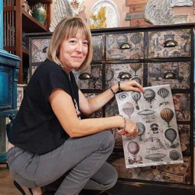 Ejemplo de papel de arroz Cadence con globos aerostáticos 888211 - Decoración de muebles antiguos estilo Shabby Chic, Provenzal, Romántico, Nórdico