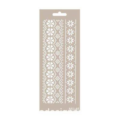 Plantilla de stencil estarcido Mix Media con cenefa de puntos de Cadence MU045 - Taller decoración de muebles antiguos Madrid estilo Shabby Chic, Provenzal, Romántico, Nórdico