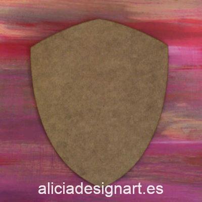 Soporte de madera con forma de escudo, para decorar, 25 x 30 cm - Taller decoración de muebles antiguos Madrid estilo Shabby Chic, Provenzal, Romántico, Nórdico