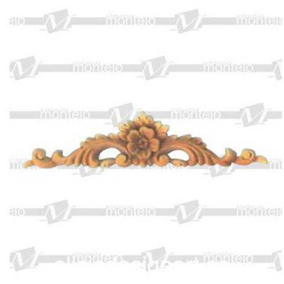 Copete mediano decorativo con motivos vegetales en resina de poliuretano para decorar, ref 1472 - Taller decoración de muebles antiguos Madrid estilo Shabby Chic, Provenzal, Romántico, Nórdico
