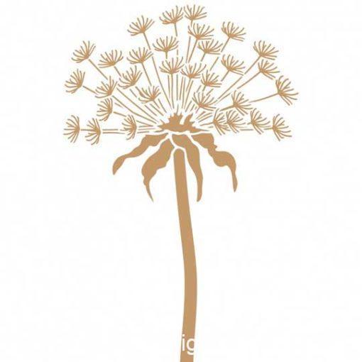 Plantilla de stencil estarcido Deco Floral con diente de león 039 - Taller decoración de muebles antiguos Madrid estilo Shabby Chic, Provenzal, Romántico, Nórdico
