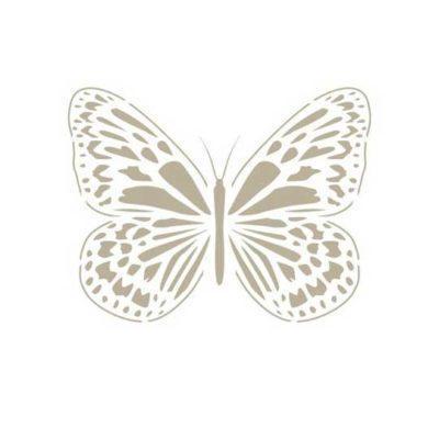 Plantilla de stencil estarcido Deco Vintage con figura de mariposa 109 - Taller decoración de muebles antiguos Madrid estilo Shabby Chic, Provenzal, Romántico, Nórdico